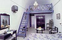 A maisonette at the Veggera Hotel, Perissa, Santorini