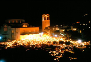 Easter at midnight, Ag Thomas, Athens Greece