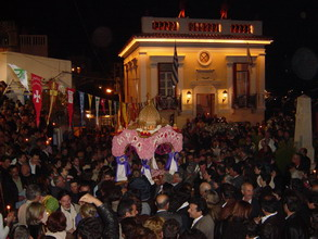 Epitaphios procession in Kea