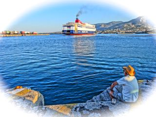 Greece ferry boat