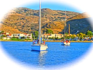 Sailboats in Greece