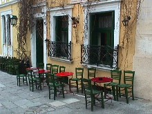 Greek Food, Yiannis Cafeneonin Lesvos, Greece