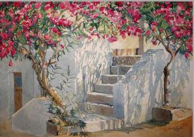 Matt Barrett's Greece Travel Blog: Watercolor Workshop with James ...
