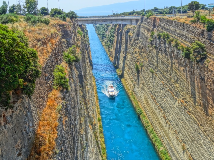 corinth canal and isthmia