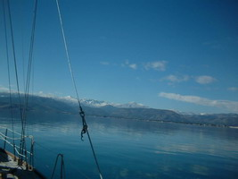 winter sailing in Greece